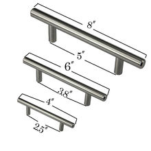 "Diameter 10mm Stainless Steel Kitchen Door Cabinet T Bar Handle Pull Knob 4"" 6"" 8"""