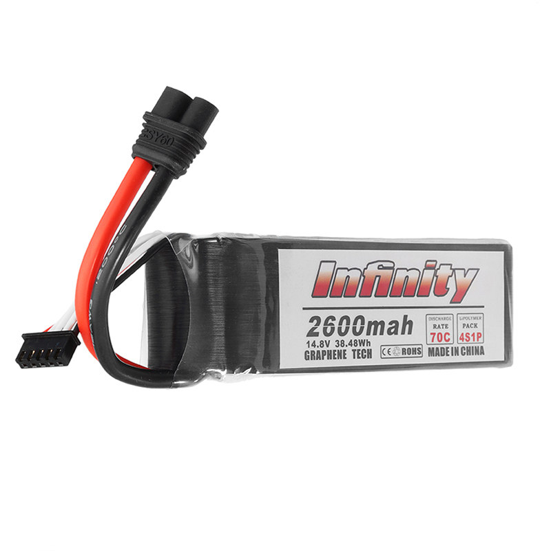 High Quality For Infinity Graphene 14.8V 2600mAh 70C 4S Rechargeable Lipo Battery SY60 Plug Connector for RC Model<br>