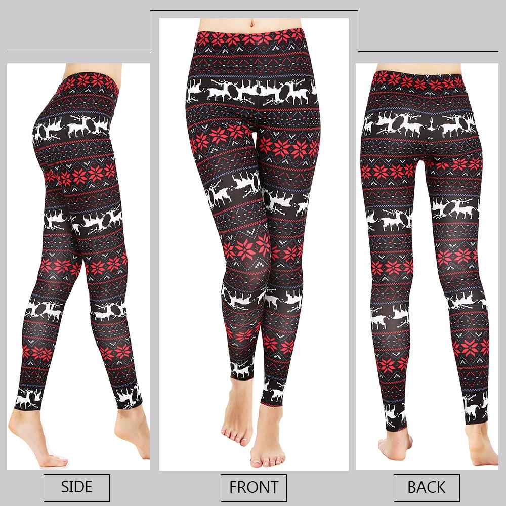 Christmas Print High Elasticity Leggings