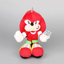 "Sonic the Hedgehog Knuckles the Echidna Red Color Plush Toys Cute Stuffed Dolls Kids Gift 11"" 28 CM"