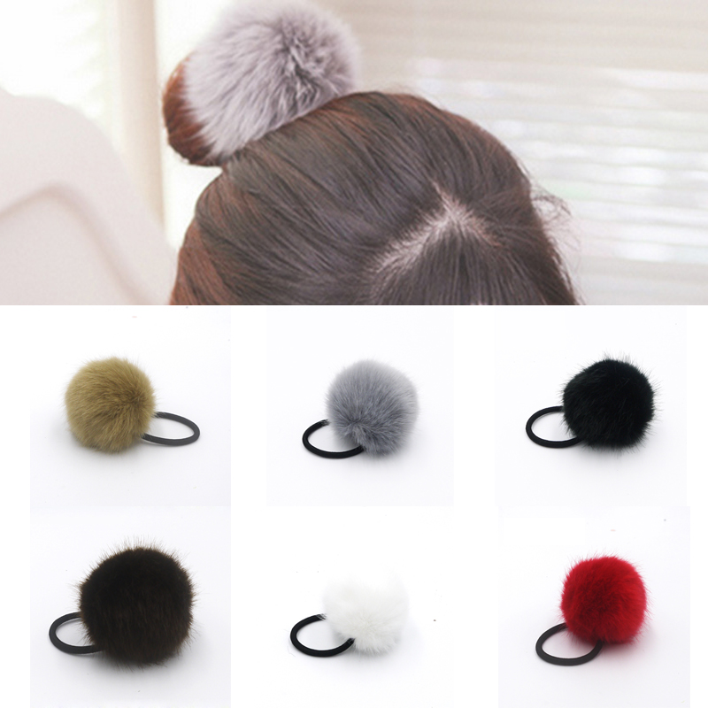 Elastic Hair Bands Elastic Ring Rope Rubber Band Fake Rabbit Fur Knot Headband Headwear Scrunchy Gum Springs Hair Accessories(China (Mainland))