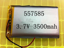 best battery brand Size 557585 3.7V 3500mah Lithium polymer Battery with Protection Board For PDA Tablet PCs Digital Products