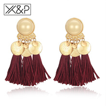 Buy X&P Vintage Luxury Ethnic Tassel Long Drop Earrings Women Girl Dangle Bohemian Fringe Earring Jewelry Gift for $1.29 in AliExpress store