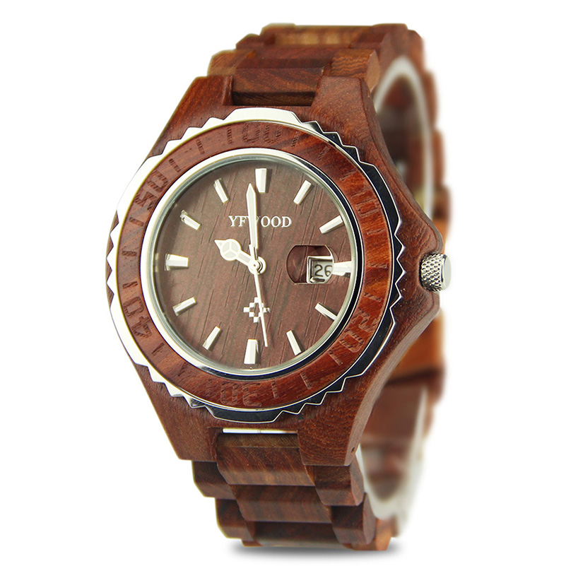 Wooden Fashion Casual Mens Watches Top Brand Luxury Business Quartz-Watch Men Wristwatch Male Clock Relogio Masculino<br>