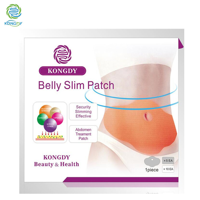 KONGDY Hot Sell 5 Pieces/ Box Slimming Patch KONGDY New Belly Abdomen Weight Loss Fat burning Slim Patch 100 Natural Ingredients(China (Mainland))