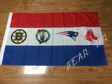 3X5FT Boston Red Sox logo New England Patriots logo background Flag banner Free Shipping custom flag