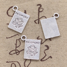 99Cents 6pcs Charms book passport 18*14mm Antique Making pendant fit,Vintage Tibetan Silver,DIY bracelet necklace(China)