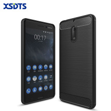 "XSDTS For Nokia 6 5.5"" Luxury Shockproof Phone Case For Nokia 5 5.2"" Case Carbon Fiber TPU Drawing For Nokia 3 5"" Cases Back"