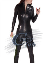 Buy Crazy club_Latex Women Catsuit Clothes Latex leotard zip front Latex Leotard natural latex condoms sexy Fast Delivery