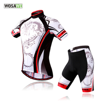 Buy WOSAWE men cycling jersey clothing set short sleeve jacket gel padded shorts summer bike bicycle sport wear for $29.99 in AliExpress store