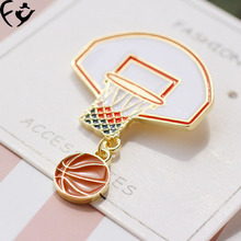 FANGY00033 American and European sports combination Dunk Basketball originality Brooch