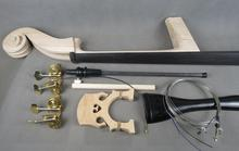 3/4 Upright Bass part:neck,fingerboard,bridge,tailpiece,Machine head tuners