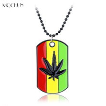 Buy MQCHUN Weed Reggae Pendants Chain Metal Necklaces Pendants Maple Leaf Pendant Jewelry Plant Leaves Necklace Gift Men Women for $1.38 in AliExpress store