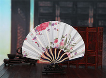(50 pieces/lot) New Chinese folding fans Elegant wedding fans Fancy event and party favors Different colors available