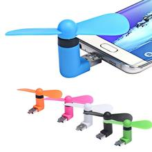 New Gadget 2 in 1 Mini Portable Micro USB Fans For Samsung Universal Android Phone Tablet free shipping
