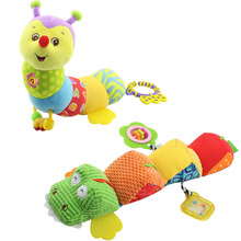 Musical Light Flashing soft Baby Toys stuff Caterpillar with Ring Bell Cartoon Animal Plush creative Doll Early Education gift(China)