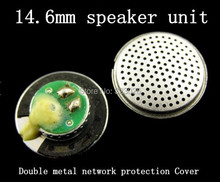 Complex process Fever double metal mesh earphone unit 14.6mm earphone speaker Good analytical Subwoofer 32ohms(China)