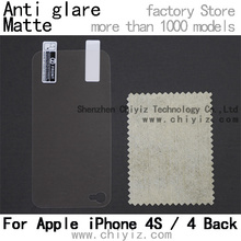 matte anti glare screen protector protective film for apple iphone 4s / iPhone 4 back only(China)