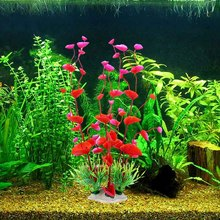 PVC Fish Tank Aquarium Decor Green Artificial Plastic Underwater Grass Plants Aquatic Pet Supplies(China)