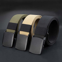 2017 Men's Fashion Outdoor Sports Military Tactical Nylon Waistband Canvas Web Belt Practical Automatic Buckle Cummerbunds
