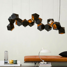 chandelier Nordic postmodern metal bull droplight DNA loft villa clubhouse example room Living room lights chandeliers(China)