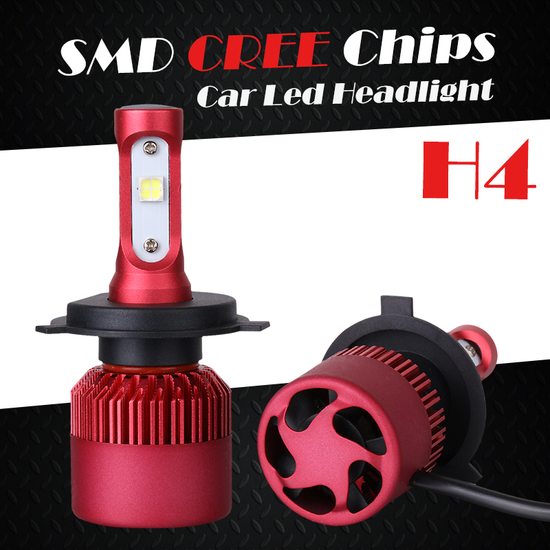 Oslamp CREE SMD Chips H4 6500K 2pcs LED Car Headlight Kits G9 Vehicle Led Head Lamp Bulbs with Cooling Fan Dipped Beam High Beam<br><br>Aliexpress