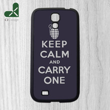 1pcs Keep Calm and Carry One Background Printing Pattern Custom Made Mobile Parts Cover Cases for Samsung S4 S3 S5 S6 S6 Edge
