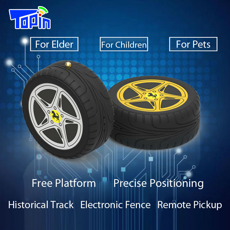 Topin MD603 Micro GPS Locator Anti-lost Tracker Mini Tyre Desgin Remote Pickup Call Real-time Positioning for Children Elder Car(China)