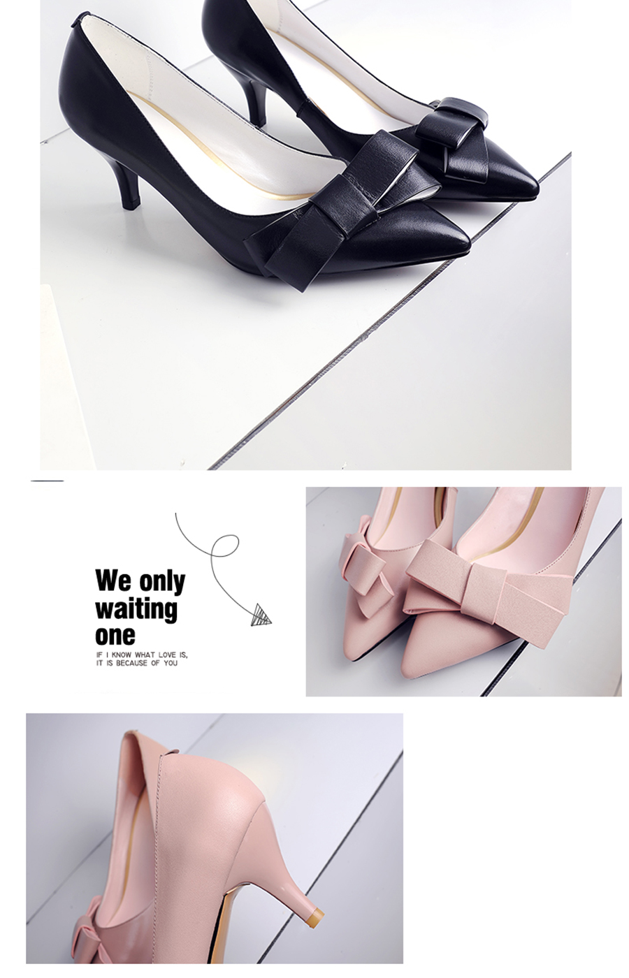 CZRBT Office Career Work Shoes Women Classics High Heels 6cm Butterfly-Knot Genuine Leather Women Pumps Office Lady Shoes