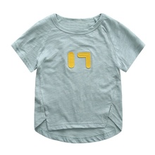 2017 Baby Kids Girls T-shirt Childrens Tops Summer Clothes Short Sleeve Tee
