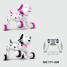 Cute kids intelligent dog Robot RC Electric Remote Control 2.4 G Pet dogs dancing light walk Multifunctional toys(China)