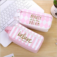 Canvas Pencil Case Bag Large Capacity Pen Box Stationery Pencil Pouch Kids Gift