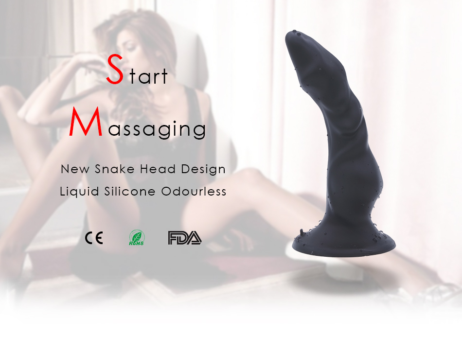 DOMI 2pcs/Set Dildo and Vibrator 21cm Strong Suction Penis Soft Smooth G-Spot Design Long Dildos Women Liquid Silicone Dildo 1