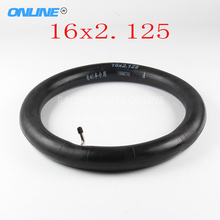 Free shipping Motorcycle Inner Tube size 16x2.125 with a Bent Angle Valve Stem(China)