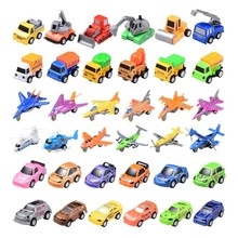 6Pcs Different Styles Mini Cars Planes Motorcycle Pull Back Toys For Children Cute Vehicles Great Kids Birthday Gifts TF0151
