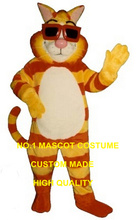 Cool Cat mascot costume new custom adult size cartoon tiger theme anime cosplay costumes carnival fancy dress kits 2725