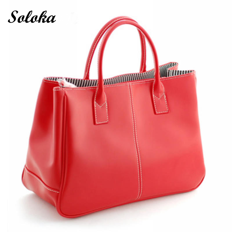 2017 Hot Selling PU Fashion Women Leather Simple Handbag Classic Candy Color Womens Tote Bag Shoulder Messenger Bags Women Gift<br><br>Aliexpress