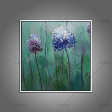 Newest Original Handmade Oil Painting Lifelike Colorful Hydrangea for Home Decor Supporting Any Other Size or Specified Material(China)