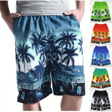 Summer Men`s Beach Shorts Hawaiian Floral Printed Plus Size Oversized Loose Baggy Board Wear Short MB16191