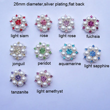 (L0295C-1) free shipping  wholesale 20 pcs/lot, metal rhinestone embellishment,colorful crystals,flat back