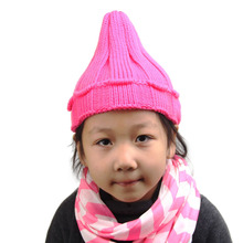 Retail Winter Warm  Beanie  Candy Colors crochet Hats Knitted Crimping Boys Skullies  Ear Warmer Cap Top Quality