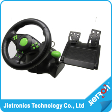 2016 Wired USB Vibration Feedback racing wheel for ps3 Steering Wheel work for XBOX 360/ PS2/PS3/ PC (3 in 1) with free shipping