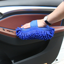 Car Wash Brush Gloves Cleaning Sponge Car Window Glass Washer Cleaner Microfiber Ultrafine Washer Sponge Brush Clean Tools(China)