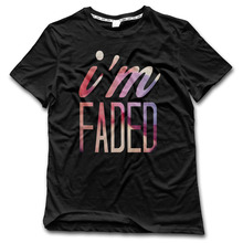 CHI Men t shirt I am Faded Rock harajuku 100% Cotton shirt men fashion New Arrival Style 2017 tops(China)