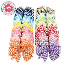 40Pcs/Lot 20Colors NEW Boutique Waves Bows WITH Clip Decorative PinWheel Bows Clips Hair Accessories 611