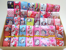 22/25mm cute hello kitty mix cartoon random grosgrain ribbons, Kitty mix ribbon set DIY KTRD010-20