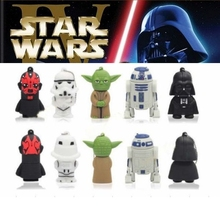 3D YODA Star Wars Darth Vader Mini Usb 128GB 32GB Rubber USB Flash 2.0 Memory Stick Pen Drive 512GB Pendrive Gift Key 64GB(China)