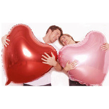TSZWJ U-005 Supersize Large Red Heart Shap Foil Air Balloons Wedding Party Say Love Decorations Marriage Ballon Supplies(China)