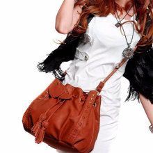 Vintage Hollow Casual Tote Leather Shoulder Bags Women Fashion Drawstring Hobo Bags Ladies Party Purse Handbag Wholesale 30JY18