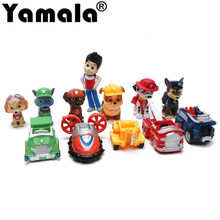 [Yamala] 12pcs/set Canine Patrol Dog Toys Russian Anime Doll Action Figures Car Patrol Puppy Toy Gift for Child